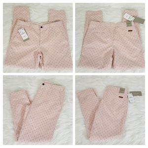Zara man pink printed Chino trousers size 32
